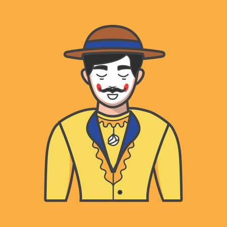 festive occasions: man in traditional costume Illustration