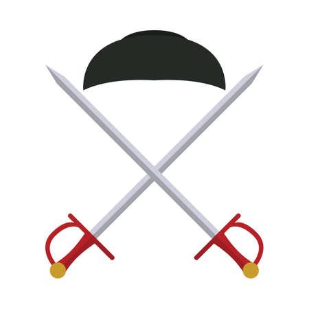 bullfighter: bullfighter cap with crossed swords
