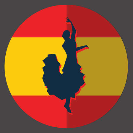 spanish tradition: flamenco dancer Illustration