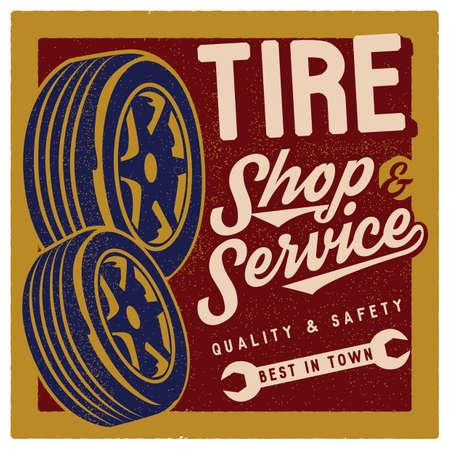 oldies: tire shop wallpaper