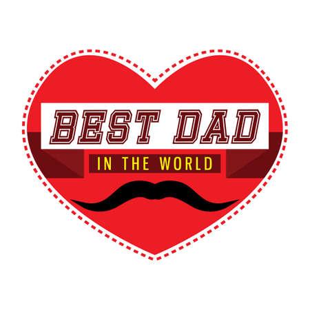 best dad: best dad in the world Illustration