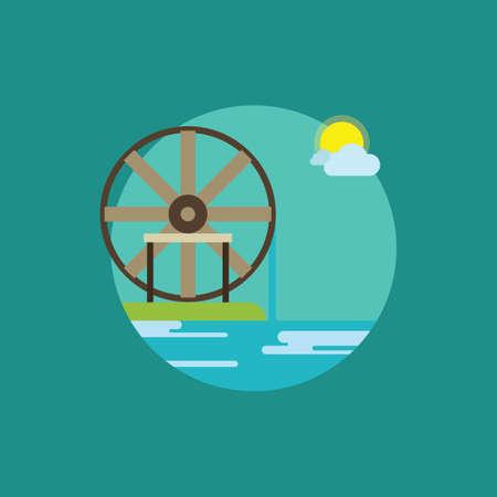 waterwheel: waterwheel Illustration