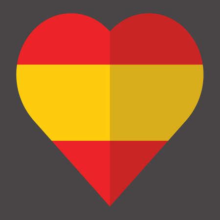 spanish flag: heart with spanish flag color