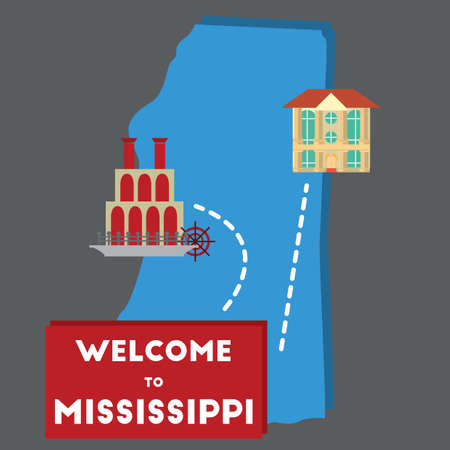 unites: welcome to mississippi state Illustration