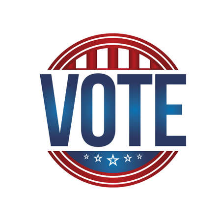 vote: usa vote badge Illustration