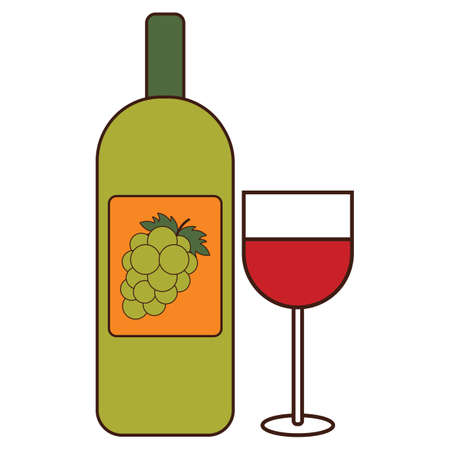 redwine: wine bottle and glass