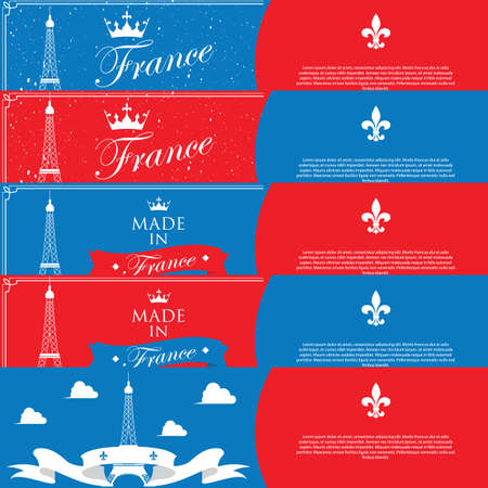 snowfalls: collection of france banners Illustration
