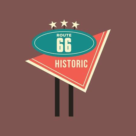 historic: historic route 66 Illustration