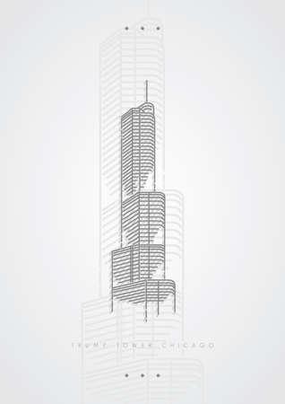 Skyline Clipart Chicago Downtown - Buildings & Construction Png,  Transparent Png - vhv