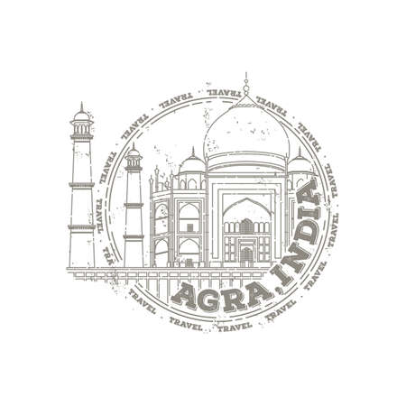agra: taj mahal Illustration
