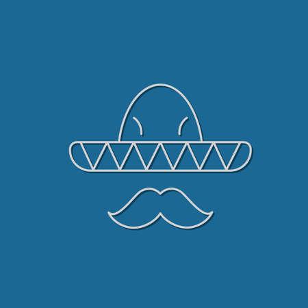 festive occasions: sombrero hat and mustache