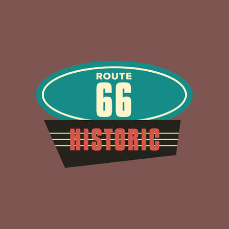 roadsigns: historic route 66 Illustration