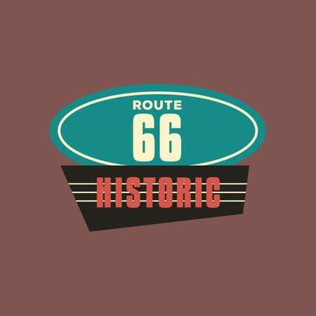 66: historic route 66 Illustration