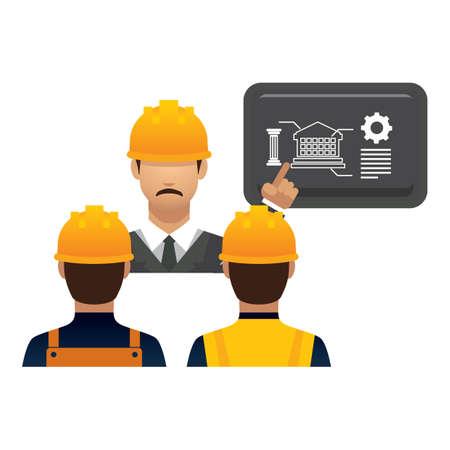human being: engineer giving presentation Illustration