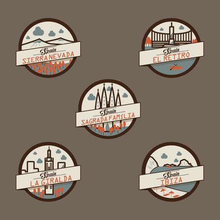 spain landmarks label
