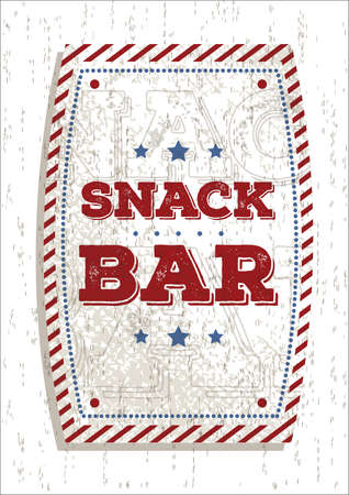 snack bar: snack bar sign