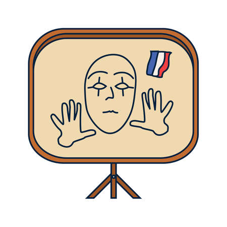 mime: mime on easel board Illustration