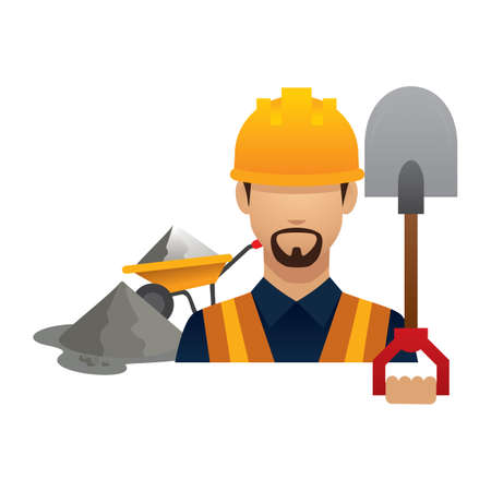hark: construction worker with shovel