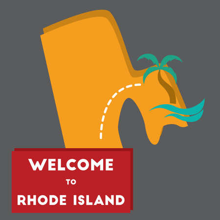 island state: welcome to rhode island state Illustration