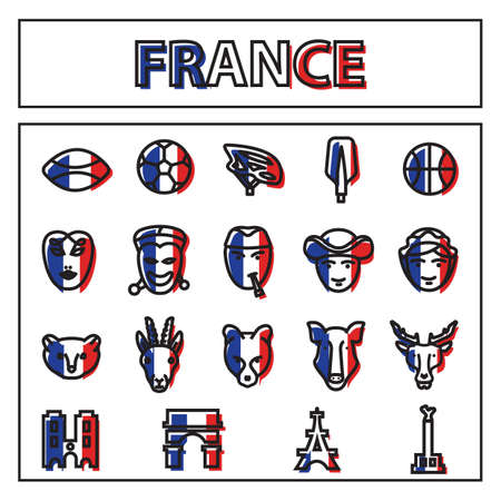 mime: collection of france icons