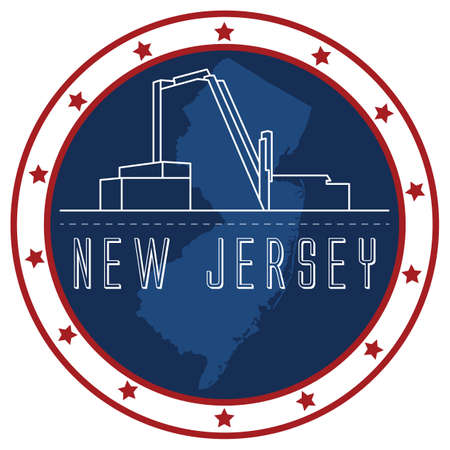 jersey: new jersey sticker