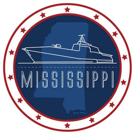 mississippi sticker Banco de Imagens - 51424866