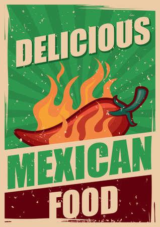 delicious: delicious mexican food poster