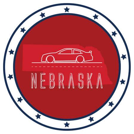 nebraska: nebraska sticker Illustration
