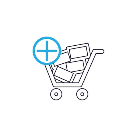 add: shopping cart with add sign Illustration