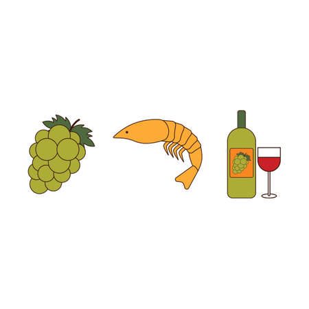 cephalopod: grapes with shrimp and wine