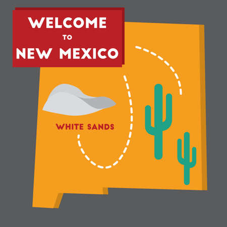 new mexico: welcome to new mexico state Illustration