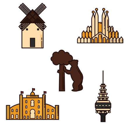 general: set of spain general icons