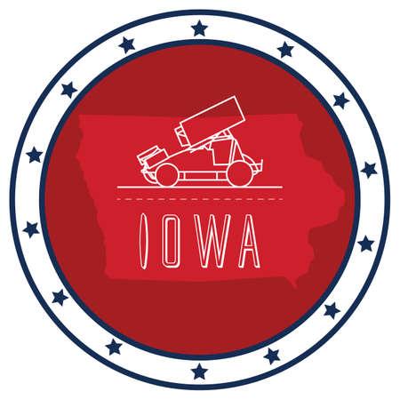 iowa: iowa sticker