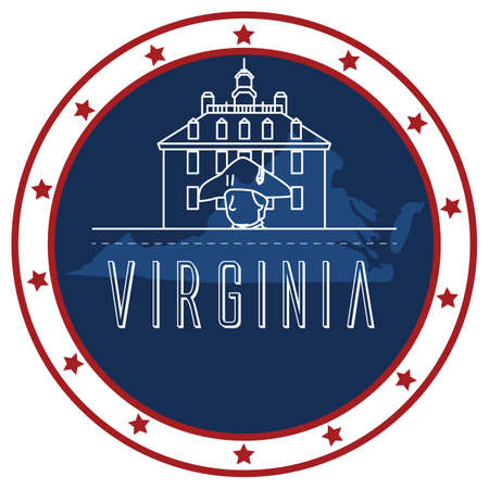 virginia: virginia sticker Illustration