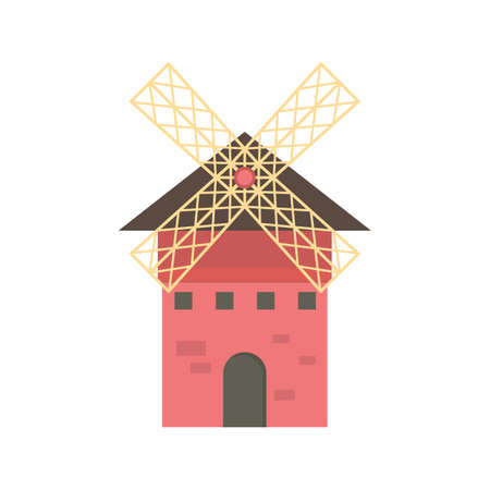 agriculture machinery: windmill Illustration