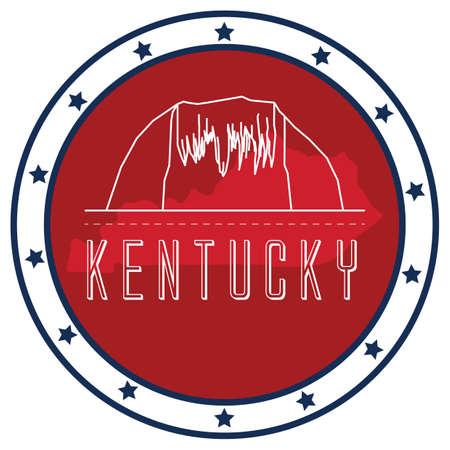 kentucky: kentucky sticker Illustration