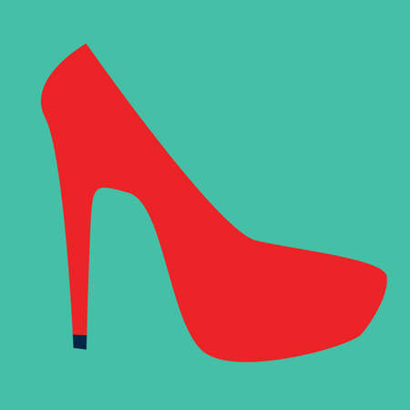 high: high heel shoe Illustration