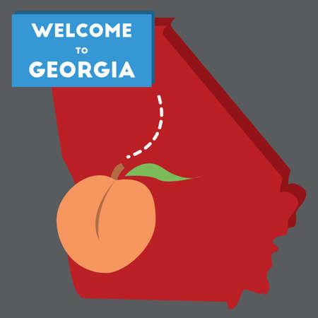 georgia: welcome to georgia state Illustration