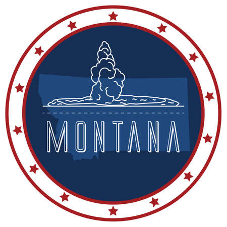 unites: montana sticker