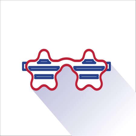 eyewear fashion: star shaped sunglasses Illustration