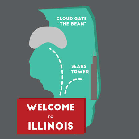 sears: welcome to illinois state Illustration