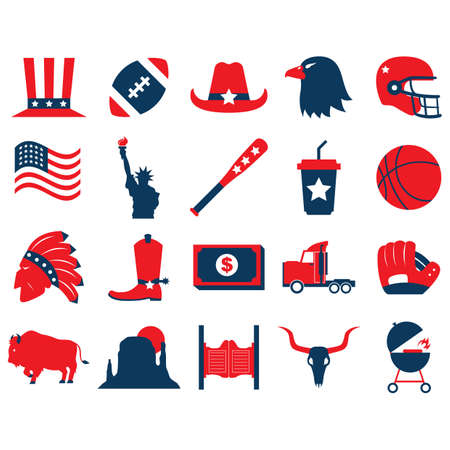 bullhead: set of usa icons Illustration