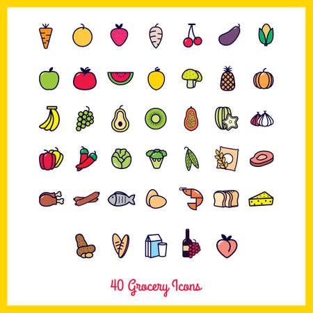 cheez: collection of grocery icons