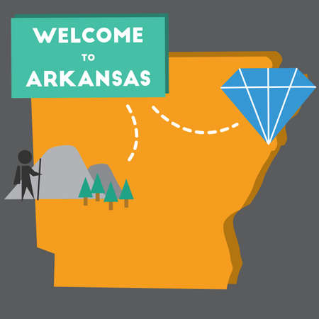 arkansas: welcome to arkansas state Illustration
