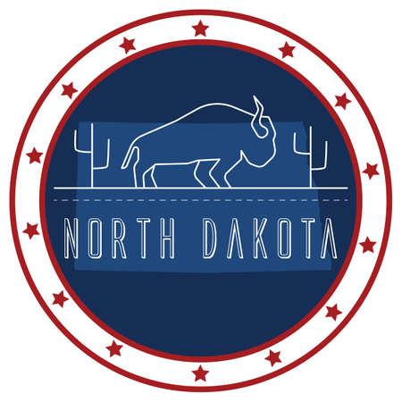 north dakota: north dakota sticker