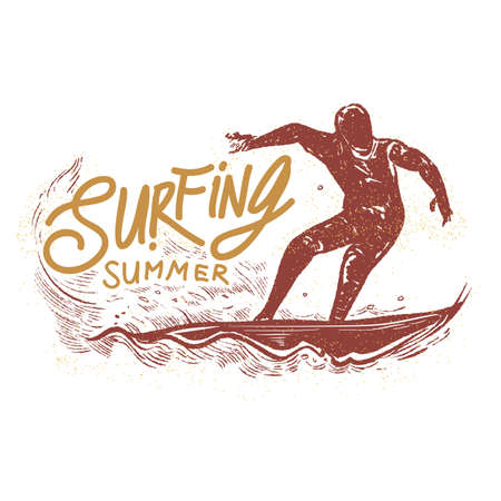 surfboard fin: surfing summer typography
