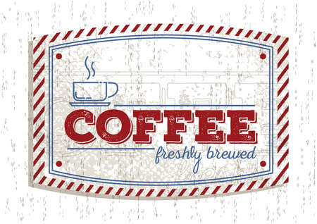 brewed: coffee shop sign