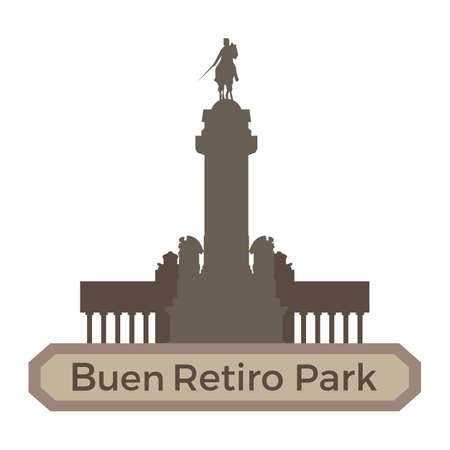 park: buen retiro park Illustration