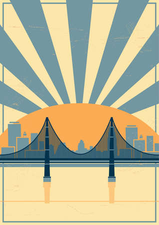 san rays: golden gate bridge poster