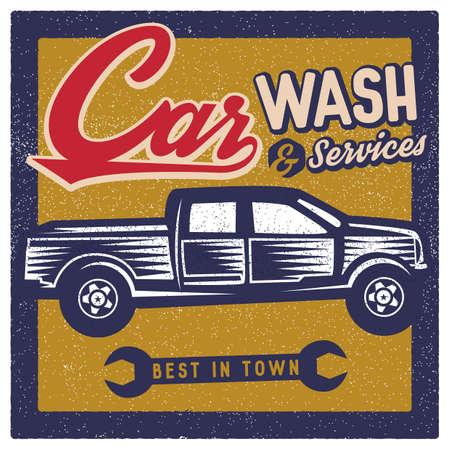 oldies: car wash wallpaper Illustration